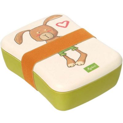 Lunch box en bambou lapin  par Sigikid