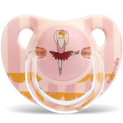 Sucette physiologique Circus ballerine rose (0-6 mois)  par Suavinex