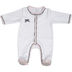 Pyjama chaud Miss Fleur de Lune blanc (1 mois)