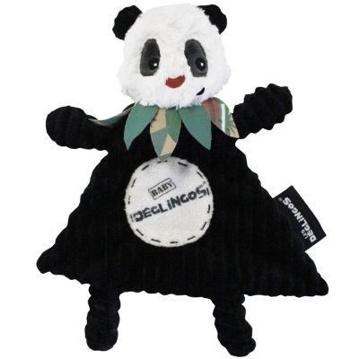 Doudou plat Rototos le panda  par Les Déglingos