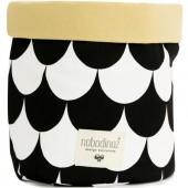 Panier de toilette Mambo Ecaille noire (25 x 26 cm) - Nobodinoz