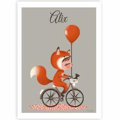 Affiche A3 Les adorables costumés Le renard (personnalisable)