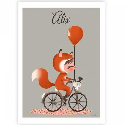 Affiche A3 Les adorables costumés Le renard (personnalisable)  par Kanzilue
