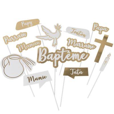 Accessoires pour photos Baptême religieux (13 pièces)  par Arty Fêtes Factory