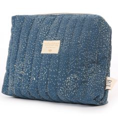 Trousse de toilette Travel bleu nuit Gold bubble