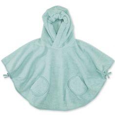 Poncho de bain Terry vert de gris frizy (9-36 mois)