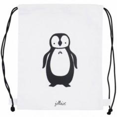 Sac à ficelles en toile Pingouin