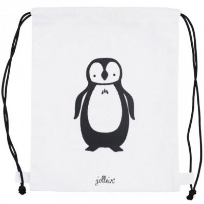 Sac à ficelles en toile Pingouin  par Jollein