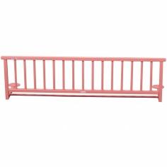 Barrière de lit en bois massif laqué rose