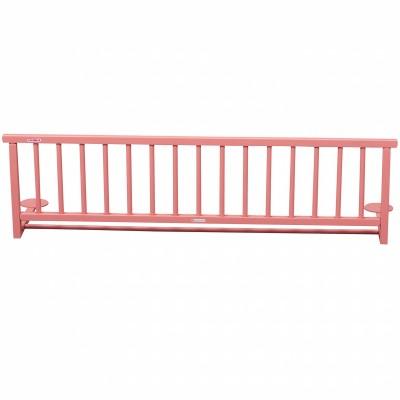 Barrière de lit en bois massif laqué rose  par Combelle