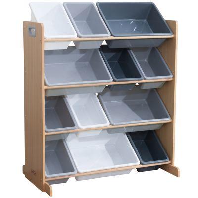 Meuble de rangement Sort It & Store It gris (12 bacs)  par KidKraft