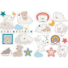 Stickers lapin et ours Mia & Basile  par Nattou