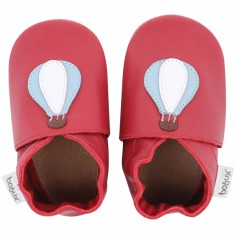 Chaussons en cuir Soft soles rouge montgolfière (9-15 mois)