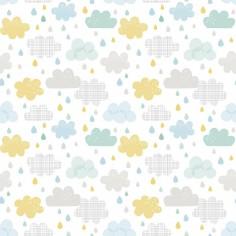 Papier peint gouttes et nuages by Dawn Machell