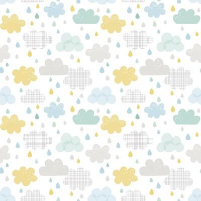 Papier peint gouttes et nuages by Dawn Machell  par Lilipinso