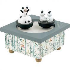 Boîte à musique magnétique Fille et panda