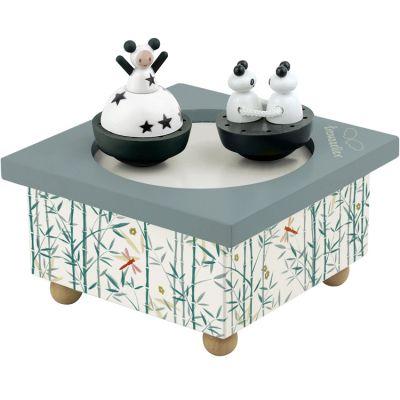 Boîte à musique magnétique Fille et panda  par Trousselier