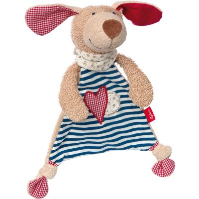 Doudou plat chien Natural love (20 cm) Sigikid