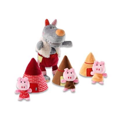 Marionnette loup et les 3 petits cochons Lilliputiens