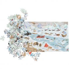Puzzle de l'explorateur La banquise Le jardin du Moulin (96 pièces)
