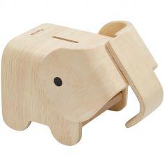 Tirelire éléphant en bois