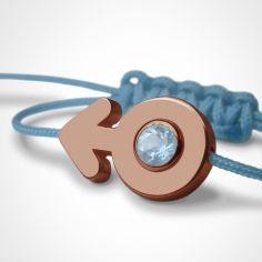 Bracelet cordon SexSymbol garçon pierre précieuse ou fine (or rose 750°)