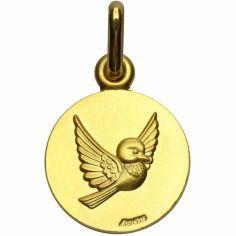 Médaille oiseau Les Loupiots (or jaune 750°)