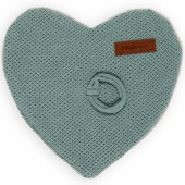 Attache sucette Classic coeur gris vert - Baby's Only