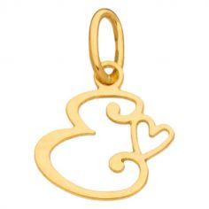 Pendentif initiale E (or jaune 750°)