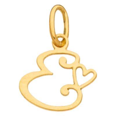 Pendentif initiale E (or jaune 750°)  par Berceau magique bijoux