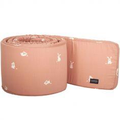 Tour de lit lapin rose (pour lits 60 x 120 et 70 x 140 cm)