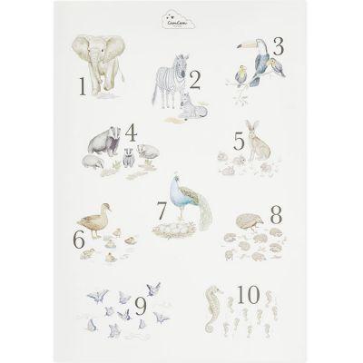Affiche A2 Nombres de 1 à 10  par Cam Cam Copenhagen