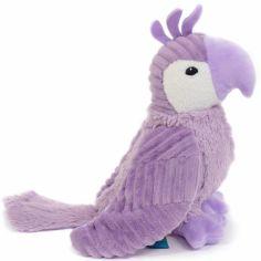 Peluche Repetou le perroquet mauve (22 cm)