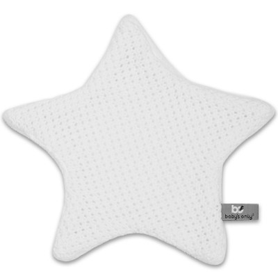 Doudou plat étoile Robust Maille blanc Baby's Only