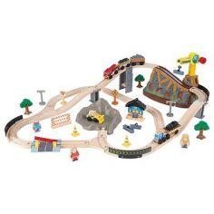 Circuit de train à assembler Bucket Top Construction (61 pièces)