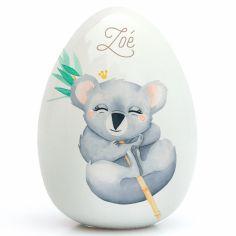 Oeuf en porcelaine Koala (personnalisable)
