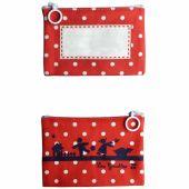 Mini pochette à maquillage rouge (personnalisable) - Les Griottes