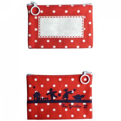 Mini pochette à maquillage rouge (personnalisable) Les Griottes