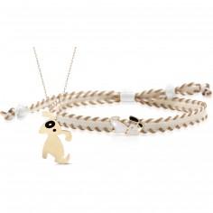 Duo maman enfant Primegioie collier et bracelet Chien (or jaune 375°)