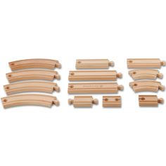 Grand set d'extension de rails en bois