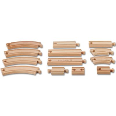 Grand set d'extension de rails en bois EverEarth