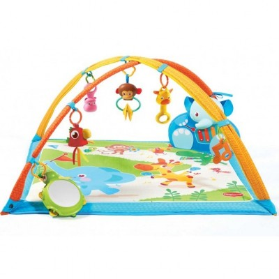 Tapis d 39 veil gymini kick play animaux de la jungle - Tapis animaux de la jungle ...