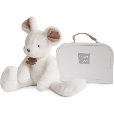 Peluche souris blanche Sweety couture (38 cm) Histoire d'Ours