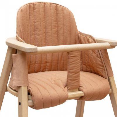 Coussin de chaise haute Growing green Sienna brown  par Nobodinoz