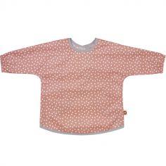 Bavoir tablier rose étoile en coton bio (2-5 ans)