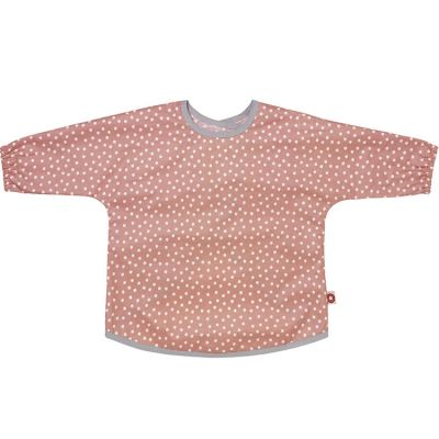 Bavoir tablier rose étoile en coton bio (2-5 ans)  par Franck & Fischer