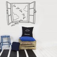 Stickers muraux Fenêtre et avion