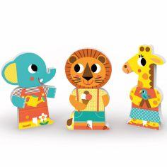 Funny magnets Une journée au zoo (9 pièces)