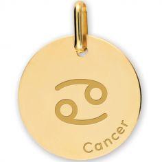 Médaille zodiaque Cancer personnalisable (or jaune 375°)
