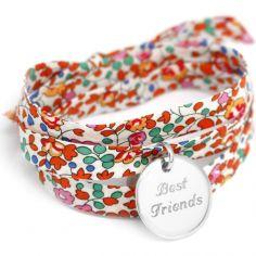 Bracelet Liberty ruban personnalisable (argent 925°)